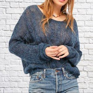 NWT Free People Angel Soft Pullover - Navy